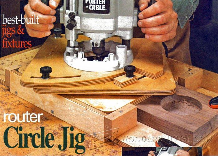 Router circle jig woodarchivist for Wood router ideas