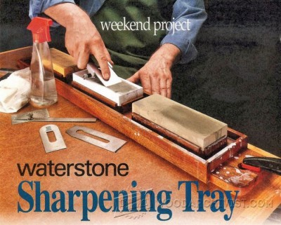 49-Waterstone Sharpening Tray - Sharpening Tips, Jigs and Techniques