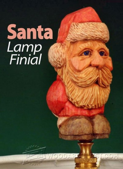 50-Carving a Santa Lamp Finial -Carving Projects and Techniques