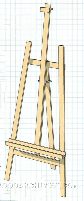 Diy Art Easel Woodarchivist