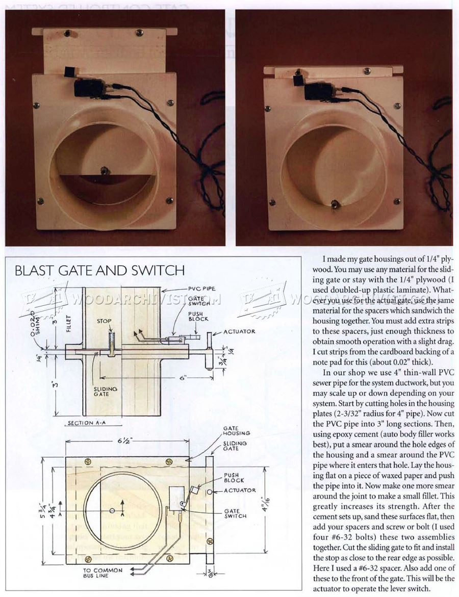 Dust Collection Blast Gate Controls