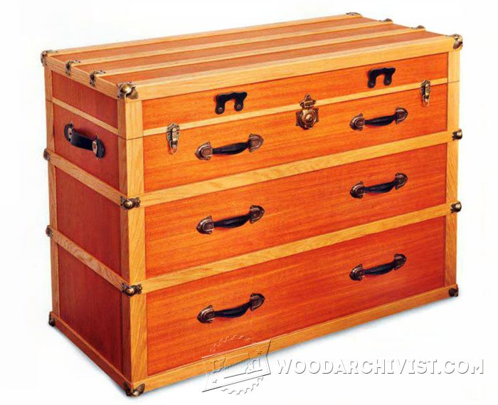 Steamer Trunk Dresser Plans Woodarchivist