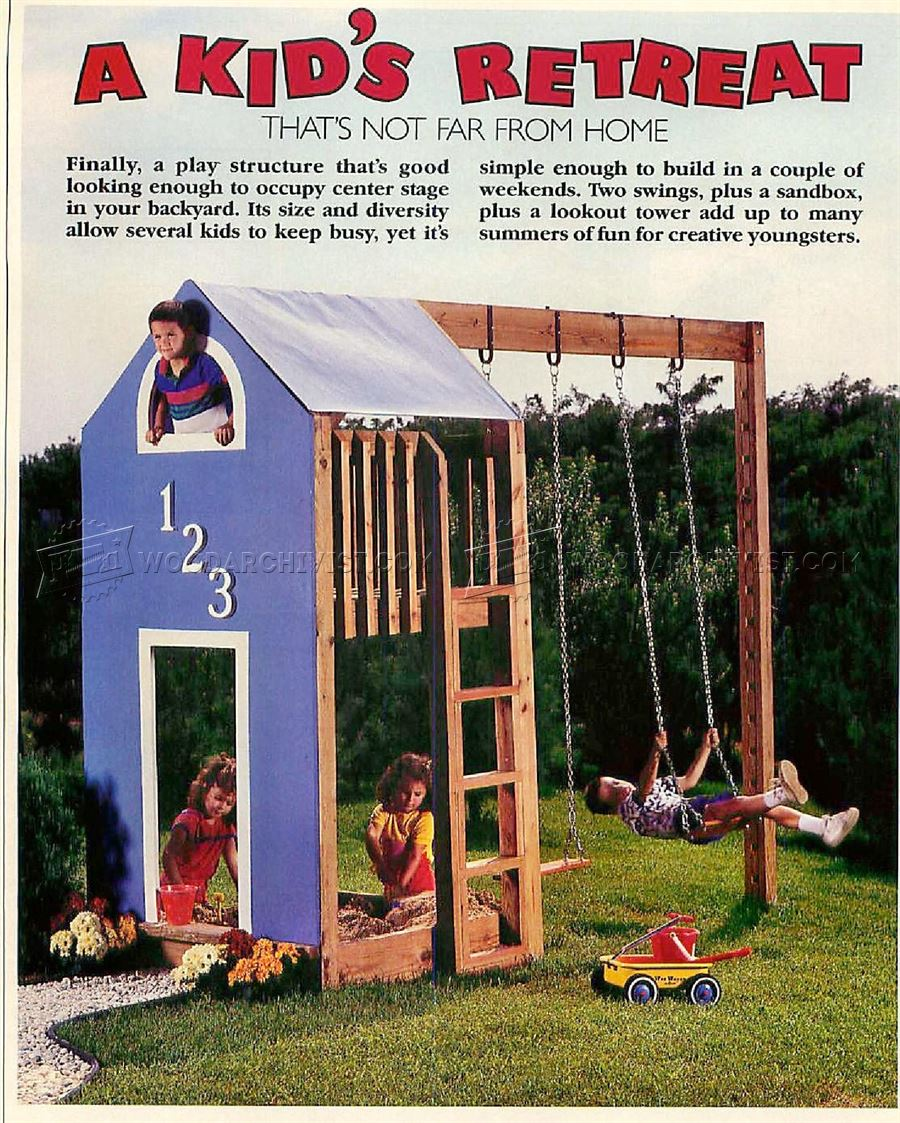 #60 Kids Play Structure Plans