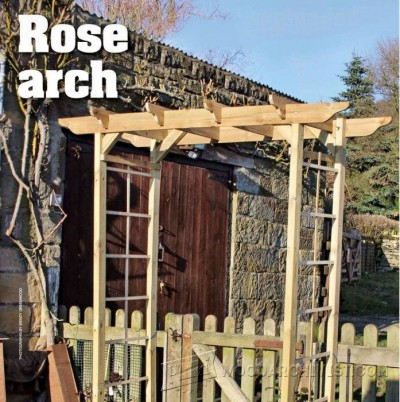 65-Rose Arch - Outdoor Plans and Projects