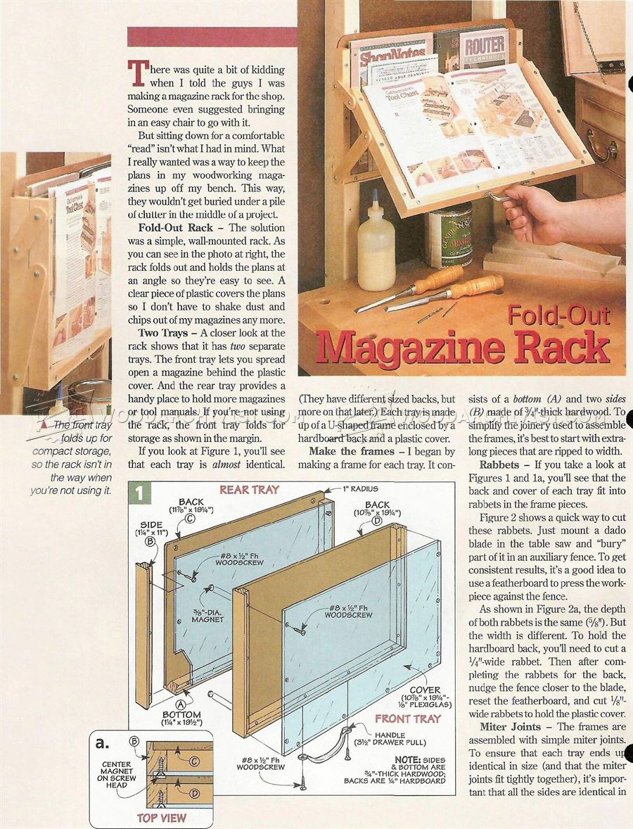 #7 Fold-Out Magazine Rack