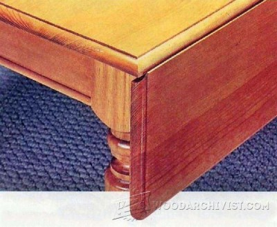 72-Drop Leaf In Depth - Furniture Plans and Projects