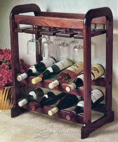 73-Showcase Wine Rack - Furniture Plans and Projects