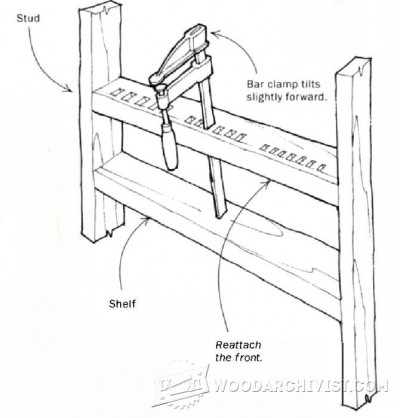 79-F-Clamp Storage Rack - Workshop Solutions Projects, Tips and Tricks