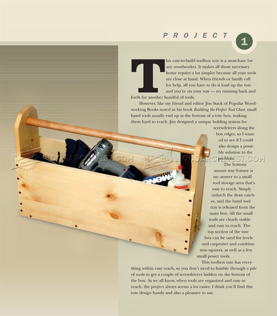 Easy-to-Build Toolbox Plans