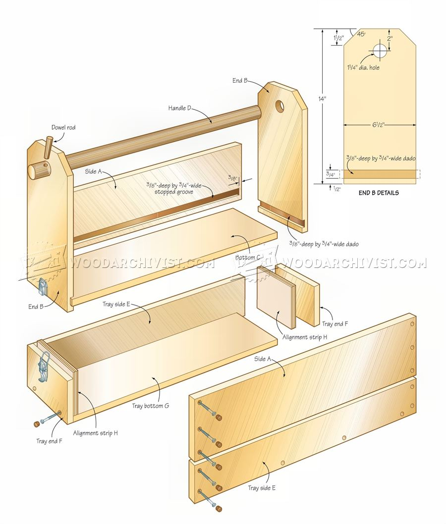 Easy to build toolbox plans woodarchivist Building design tool