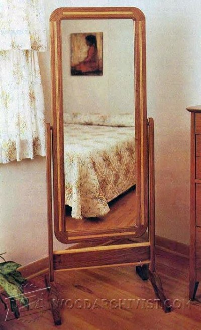 82-Cheval Mirror - Furniture Plans and Projects