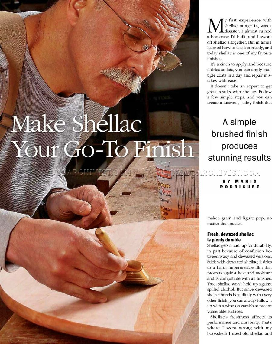 Make Shellac Your Go-To Finish