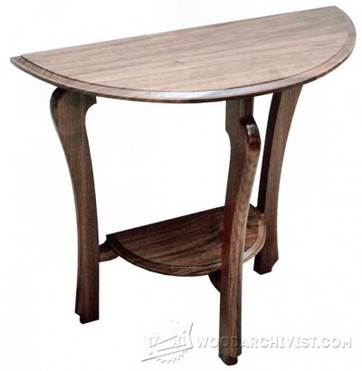86-Half Moon Table - Furniture Plans and Projects