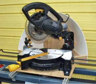 87-Miter Saw Dust Hood - Miter Saw Tips, Jigs and Fixtures