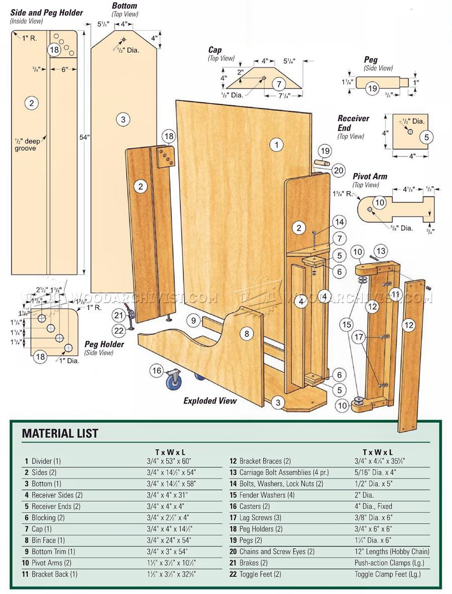 Swing-Out Sheet Storage Plans