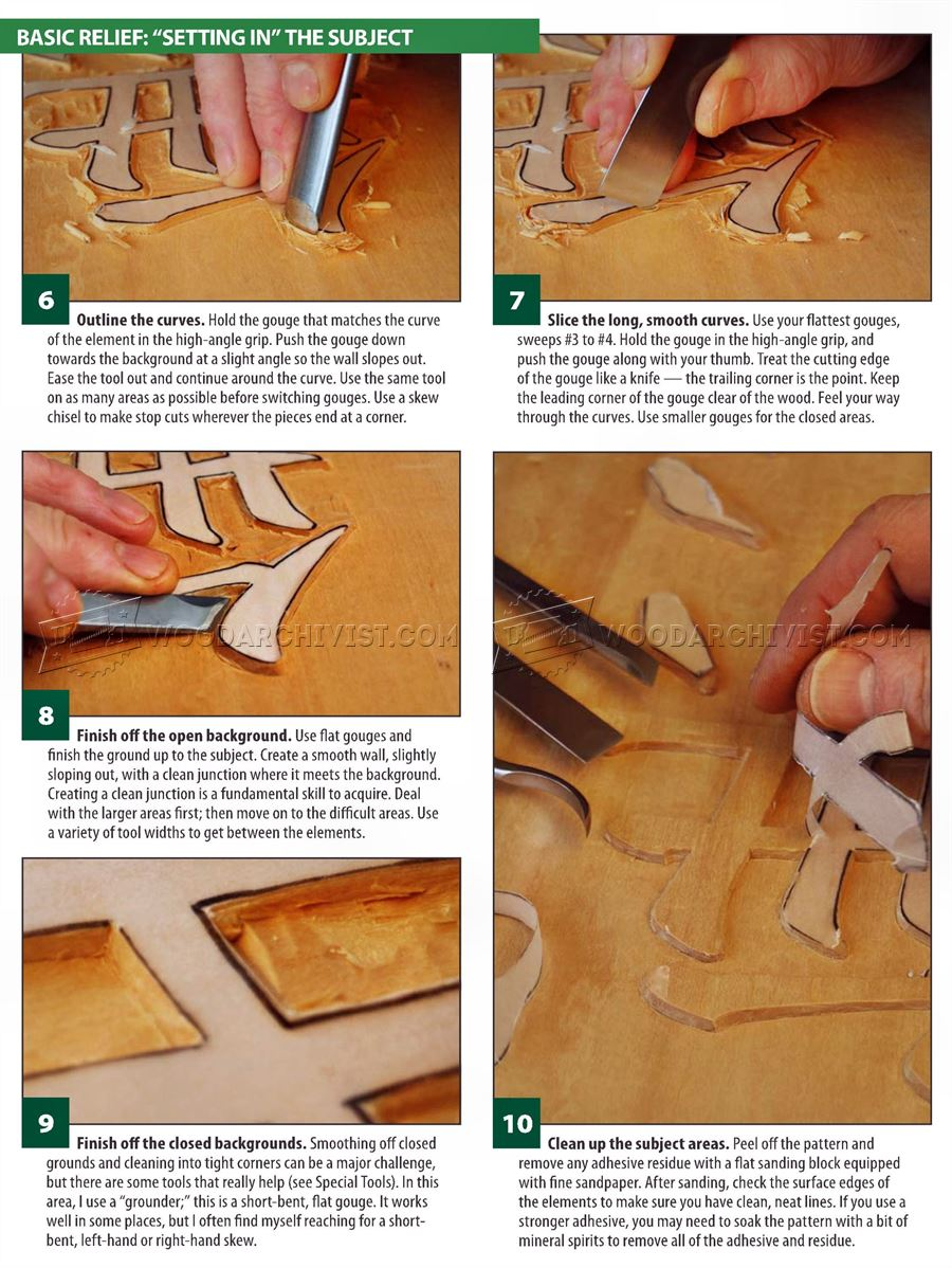 Basic relief carving techniques woodarchivist