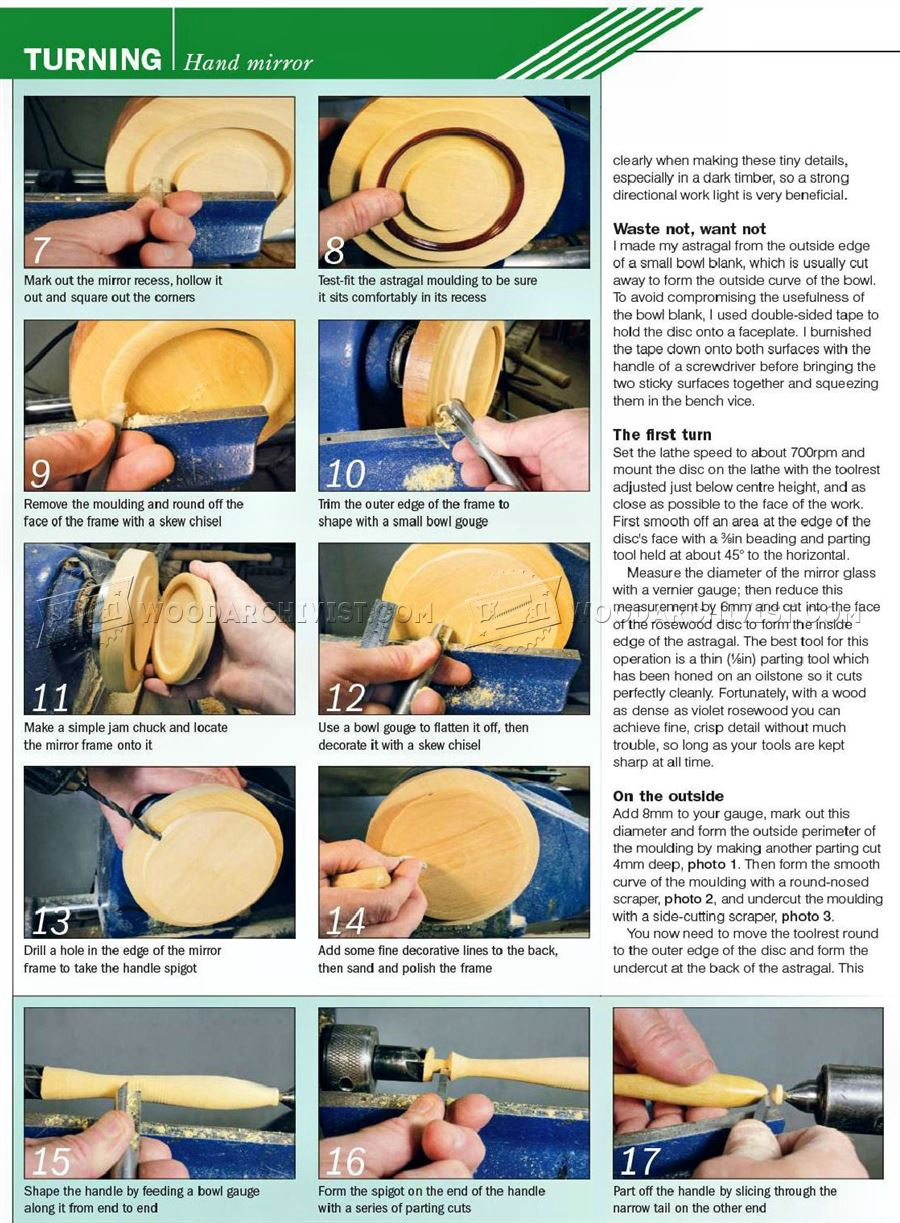 Hand Mirror - Woodturning Projects
