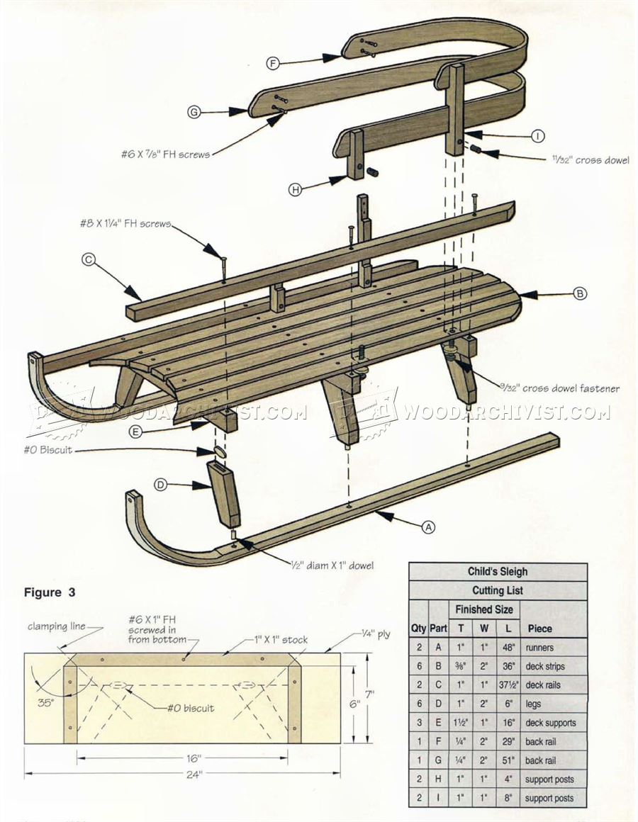 Bentwood Sleigh Plans Woodarchivist
