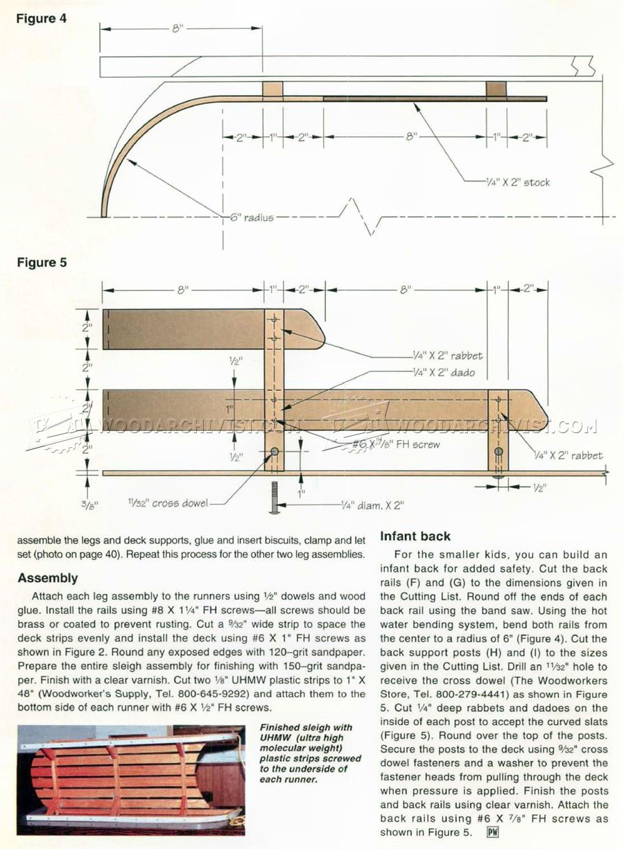 Bentwood Sleigh Plans