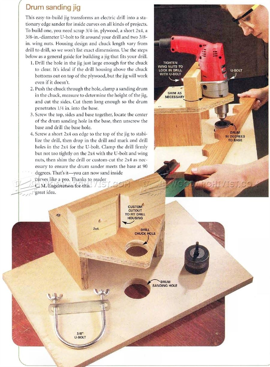 Drum Sanding Jig Woodarchivist