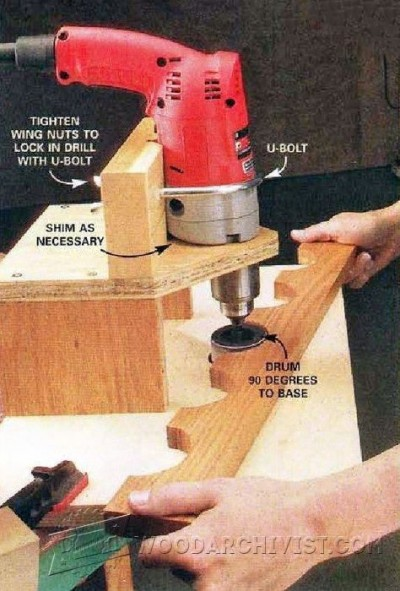 98-Drum Sanding Jig - Sanding Tips, Jigs and Techniques