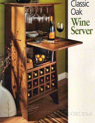 99-Classic Oak Wine Server - Furniture Plans and Projects