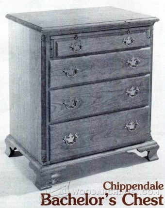 183-Chippendale Bachelor Chest - Furniture Plans and Projects