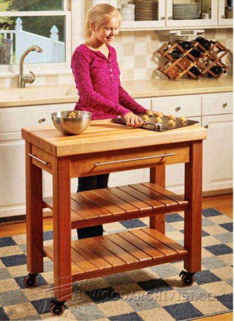 185-Portable Kitchen Island - Furniture Plans and Projects