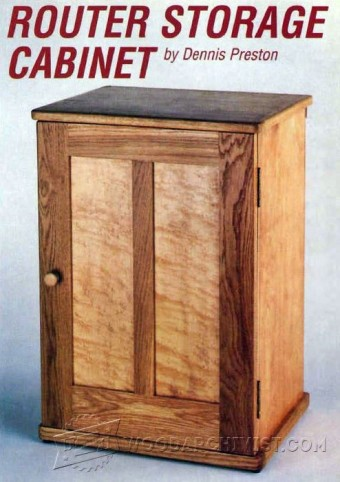 188-Router Storage Cabinet - Router Tips, Jigs and Fixtures