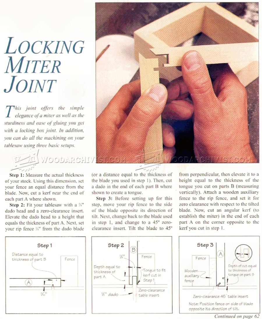 Lock Miter Joint on a Table Saw
