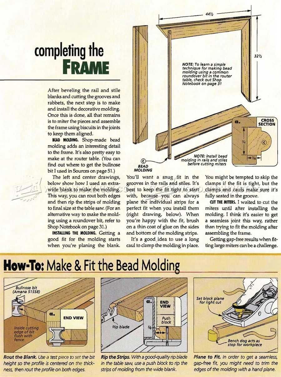 Walnut Mirror Frame Plans Woodarchivist