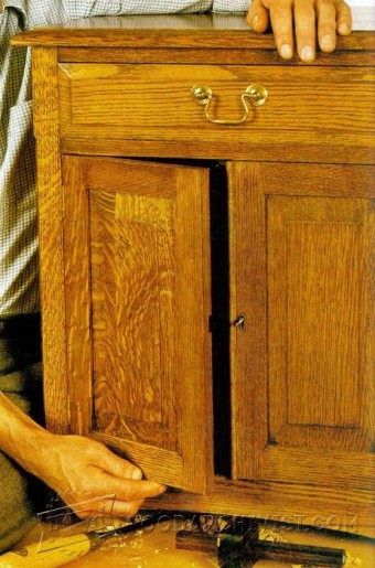 202 Traditional Oak Cabinet Plans