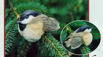 204 Bird Carving Sleeping Chickadee - Wood Carving Patterns