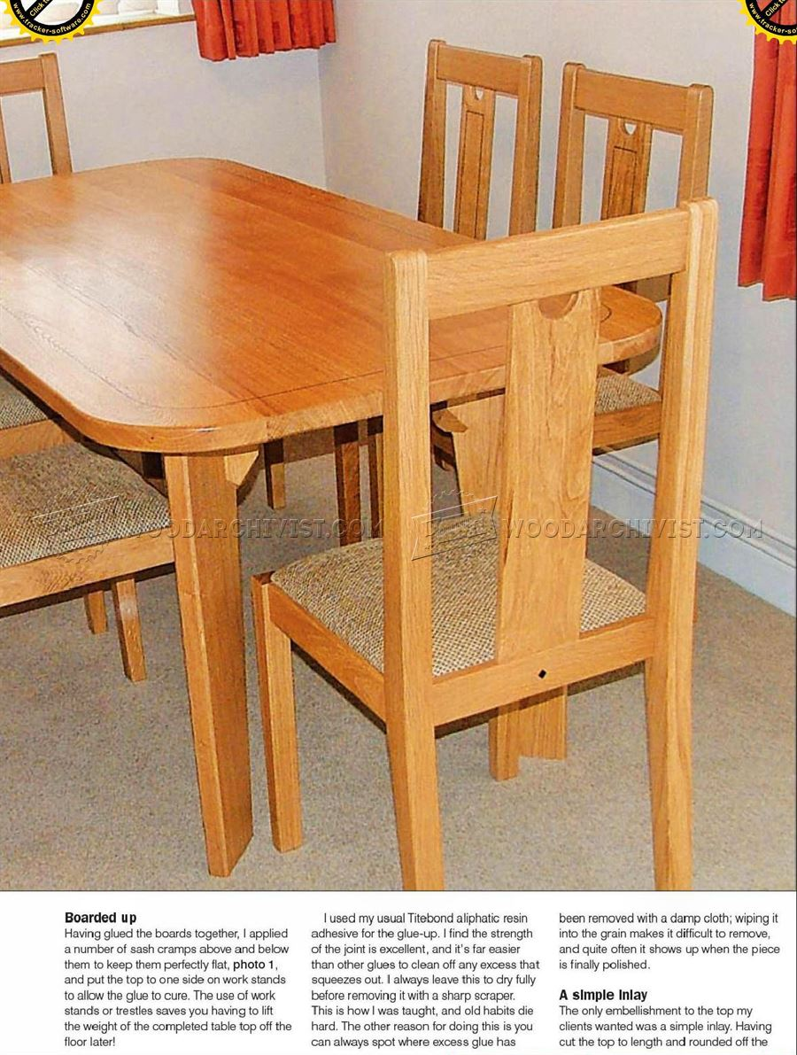 oak dining table plans oak dining table plans