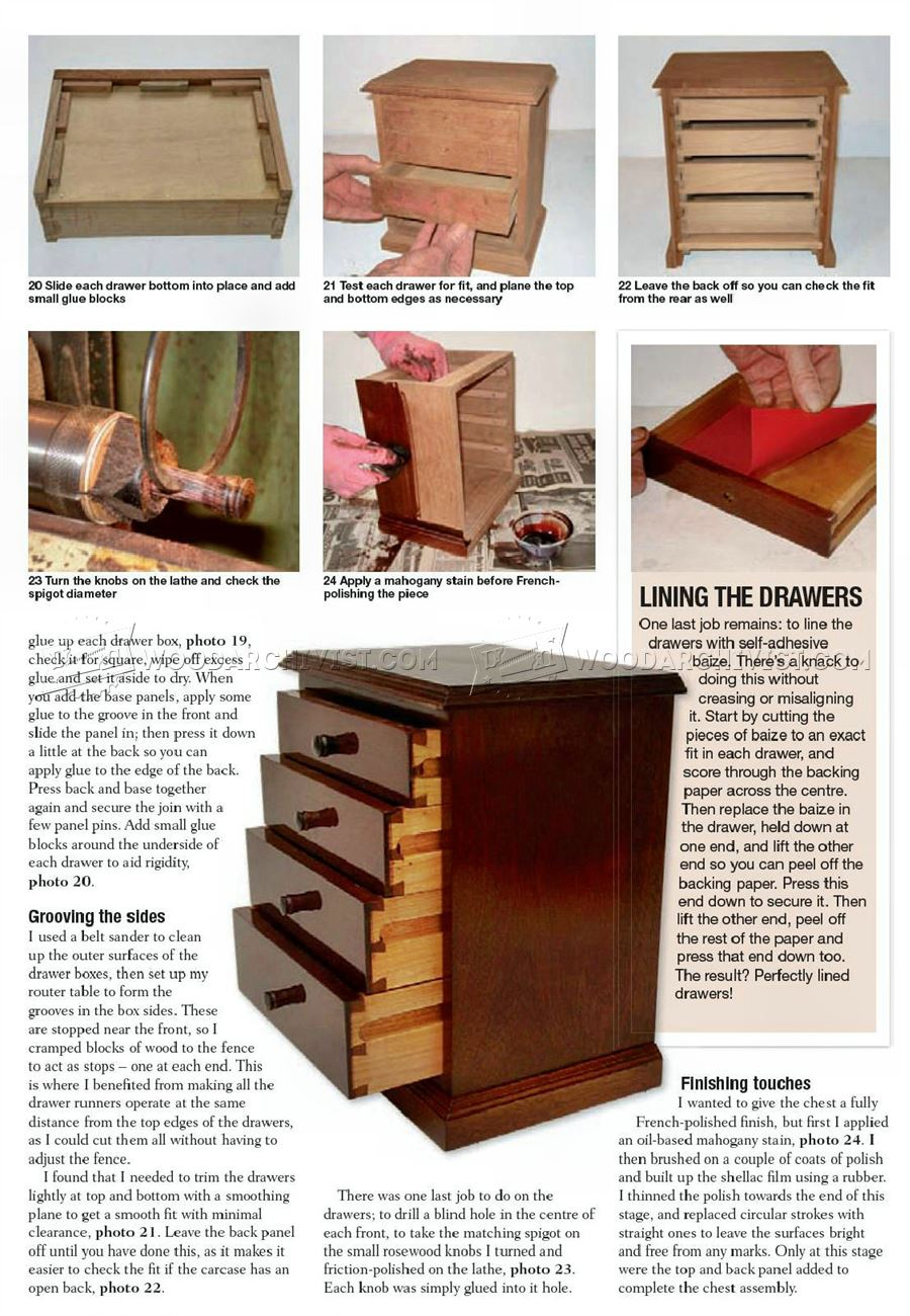 Miniature Chest of Drawers Plans
