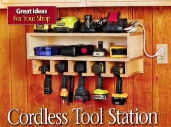210 Cordless Tool Station Plans