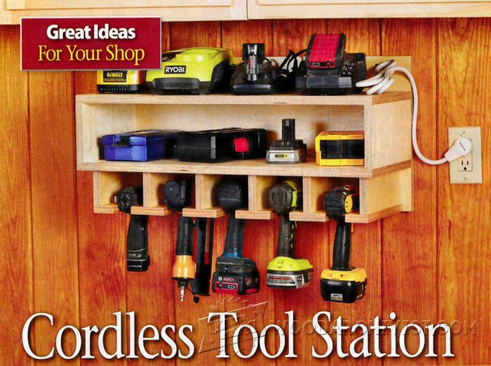 210 Cordless Tool Station Plans • WoodArchivist