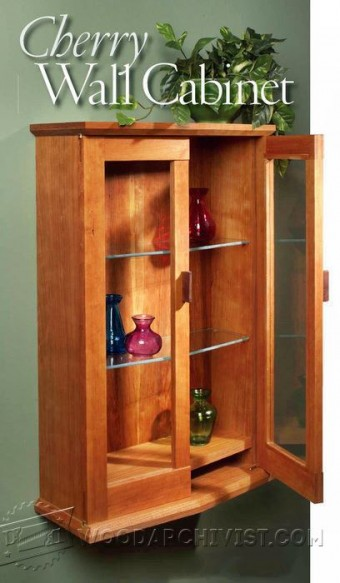 214 Cherry Wall Cabinet Plans