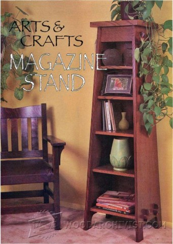 220 Art & Crafts Stand Bookcase Plans