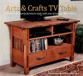 220 Art & Crafts TV Stand Plans