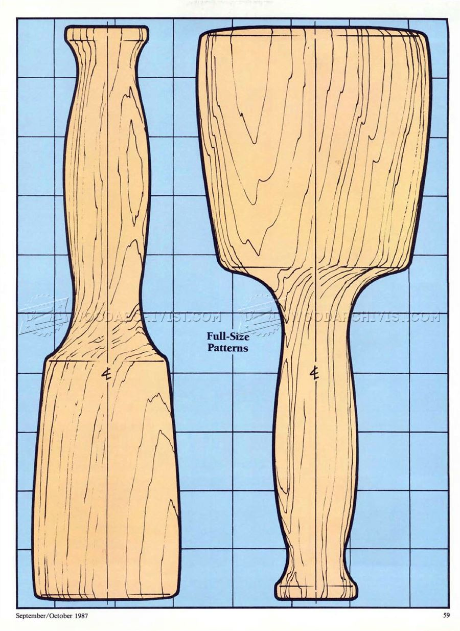 222 Wooden Mallet Plans • WoodArchivist