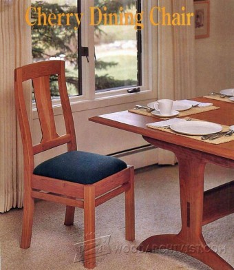 225 Cherry Dining Chair Plans