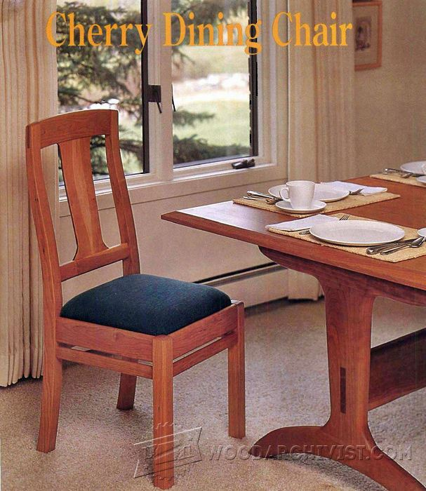 Cherry Dining Chair Plans • WoodArchivist