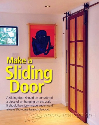 Sliding Door Plans & Door Painting Jig \u2022 WoodArchivist