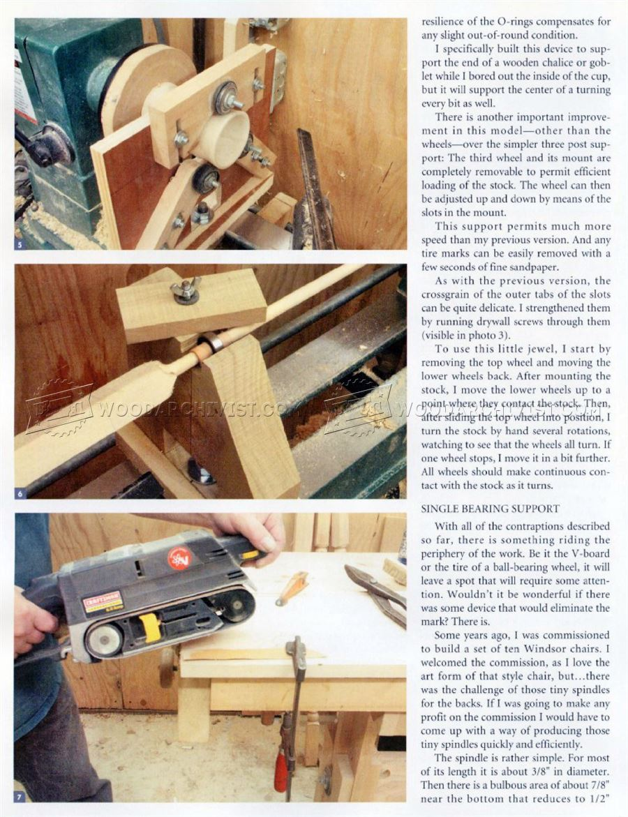 Lathe Steady Rest Plans