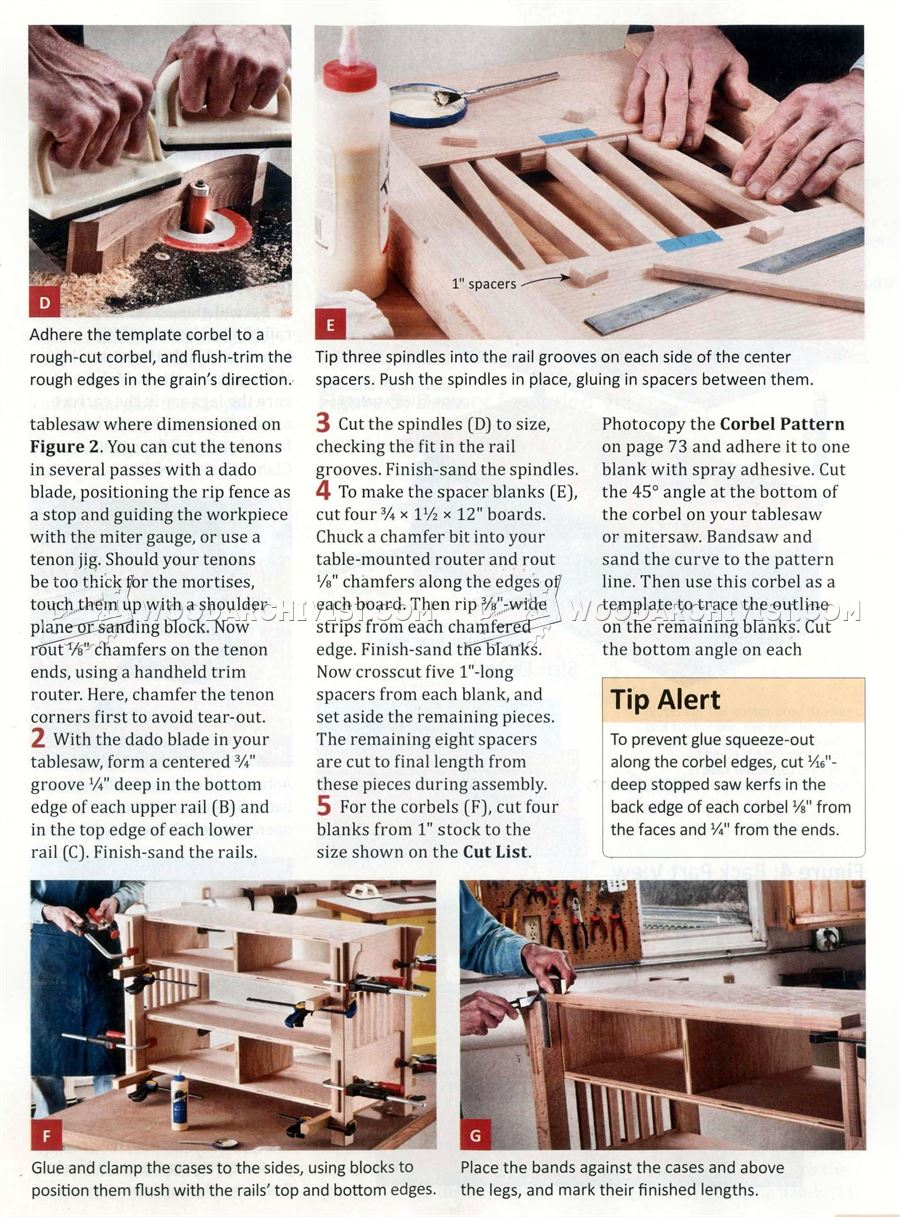 Arts & Crafts TV Stand Plans