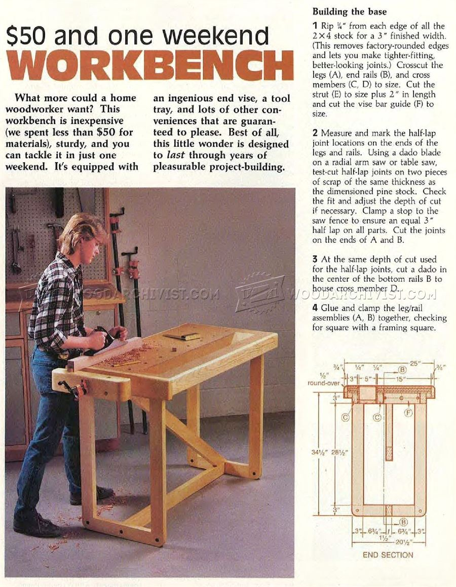 #244 One Weekend Workbench Plans