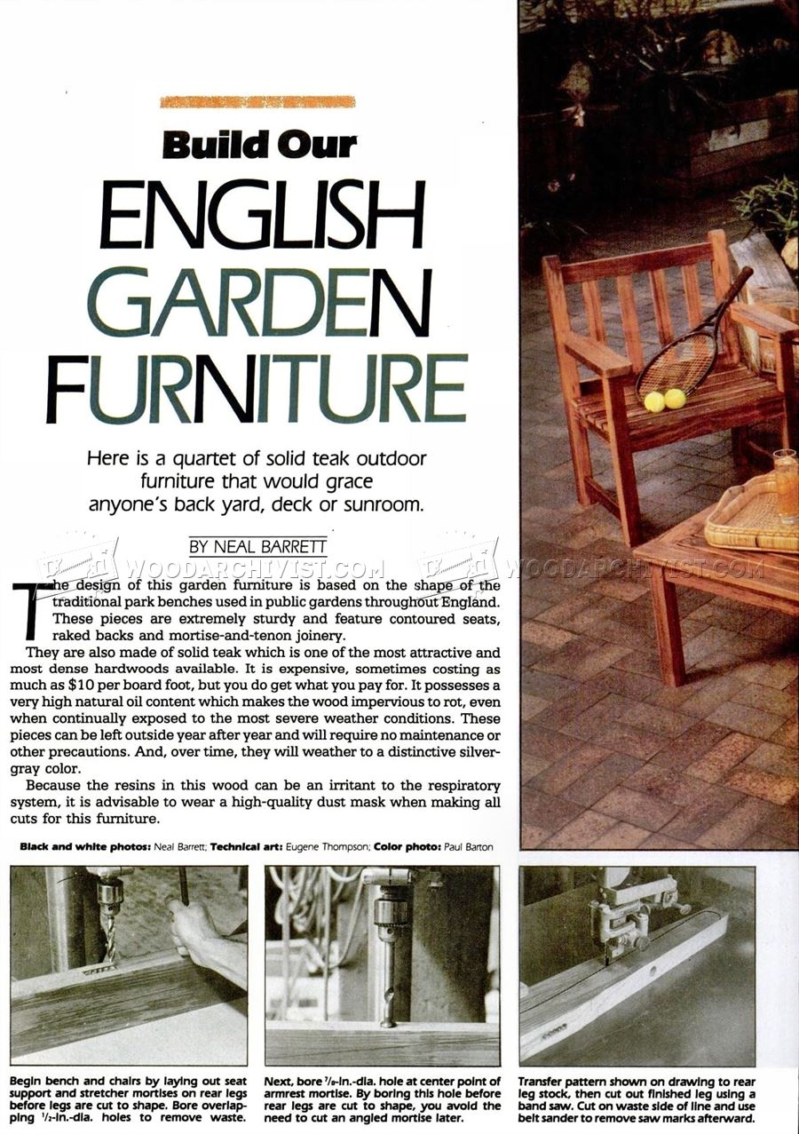 English Garden Furniture Plans