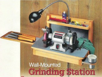 252 Wall-Mounted Grinder Sharpening Station Plans