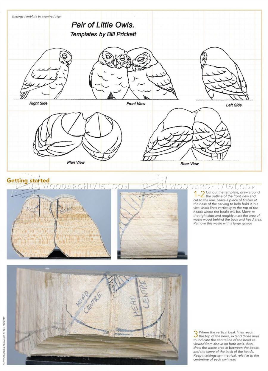 Owl carving wood patterns woodarchivist